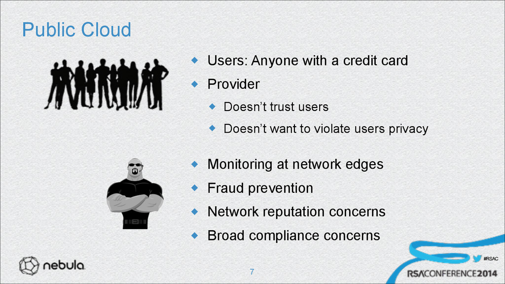 #RSAC Public Cloud u Users: Anyone with a cred...