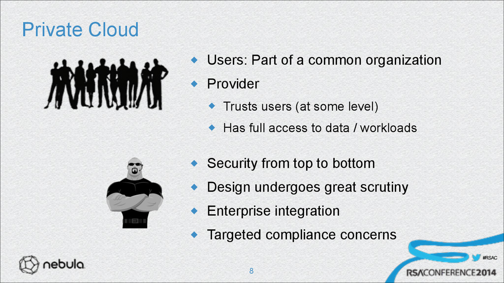 #RSAC Private Cloud u Users: Part of a common ...