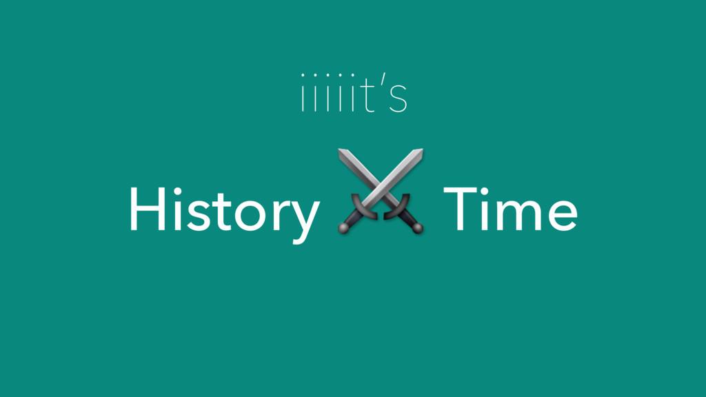 iiiiit's History ⚔ Time