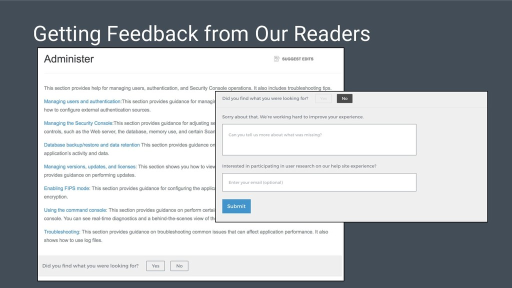 Getting Feedback from Our Readers
