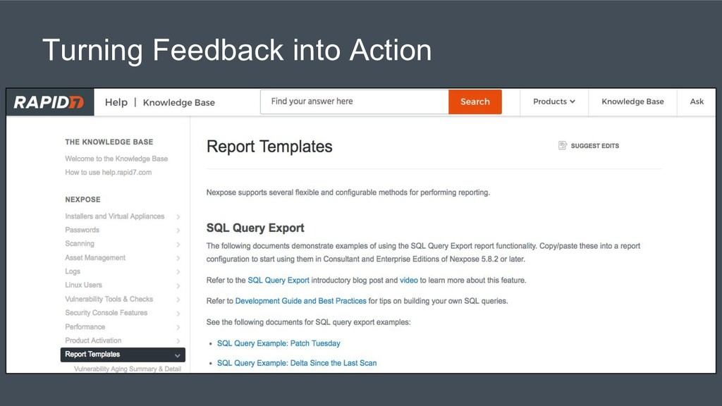 Turning Feedback into Action