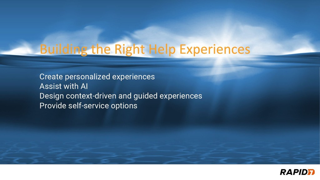 Create personalized experiences Assist with AI ...
