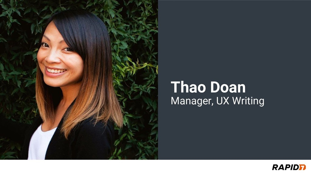 Thao Doan Manager, UX Writing