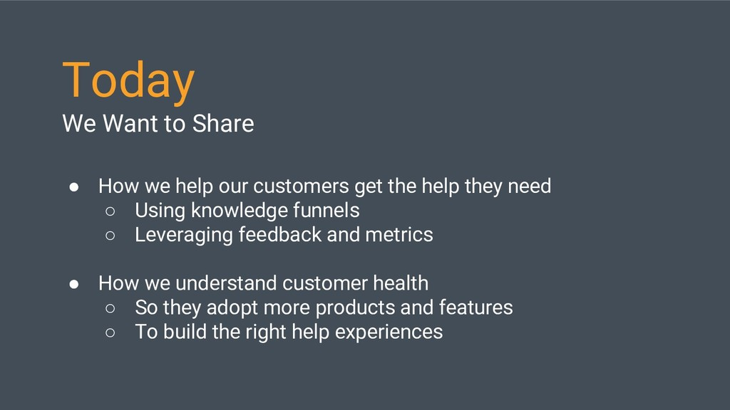 Today We Want to Share ● How we help our custom...