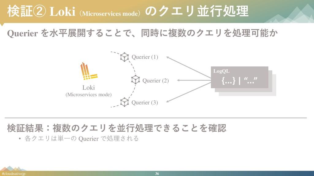 36 #cloudnativejp 検証② Loki(Microservices mode) ...