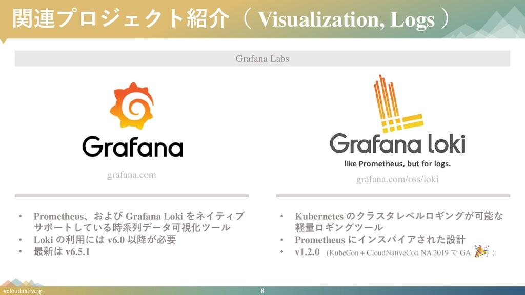 8 #cloudnativejp 関連プロジェクト紹介( Visualization, Log...