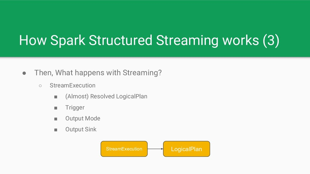 How Spark Structured Streaming works (3) ● Then...