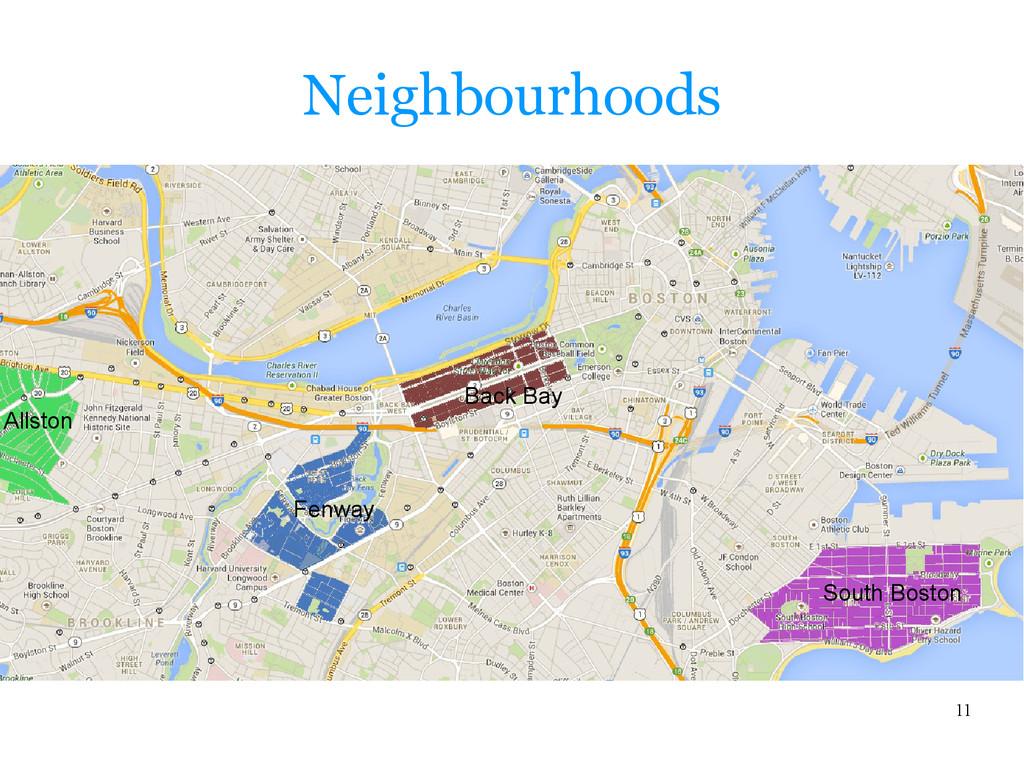 11 Neighbourhoods South Boston Back Bay Allston...