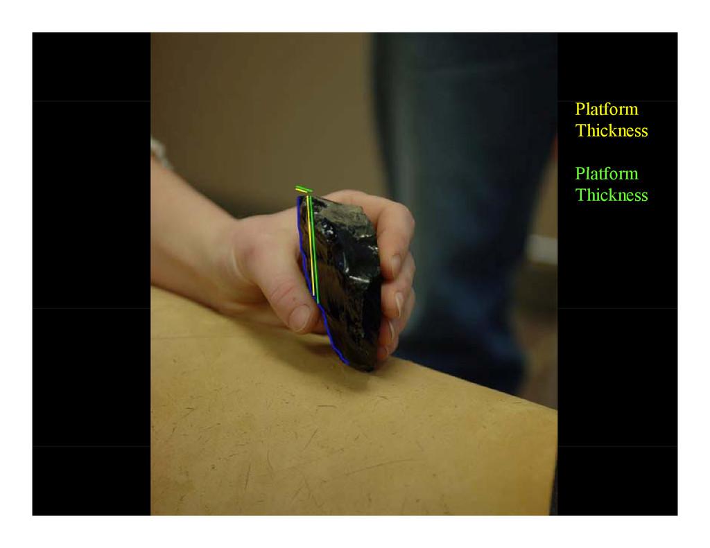 Platform Thickness Pl tf Platform Thickness
