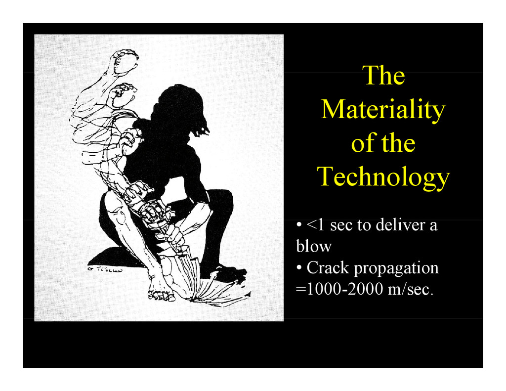 The The Materiality y of the T h l Technology 1...