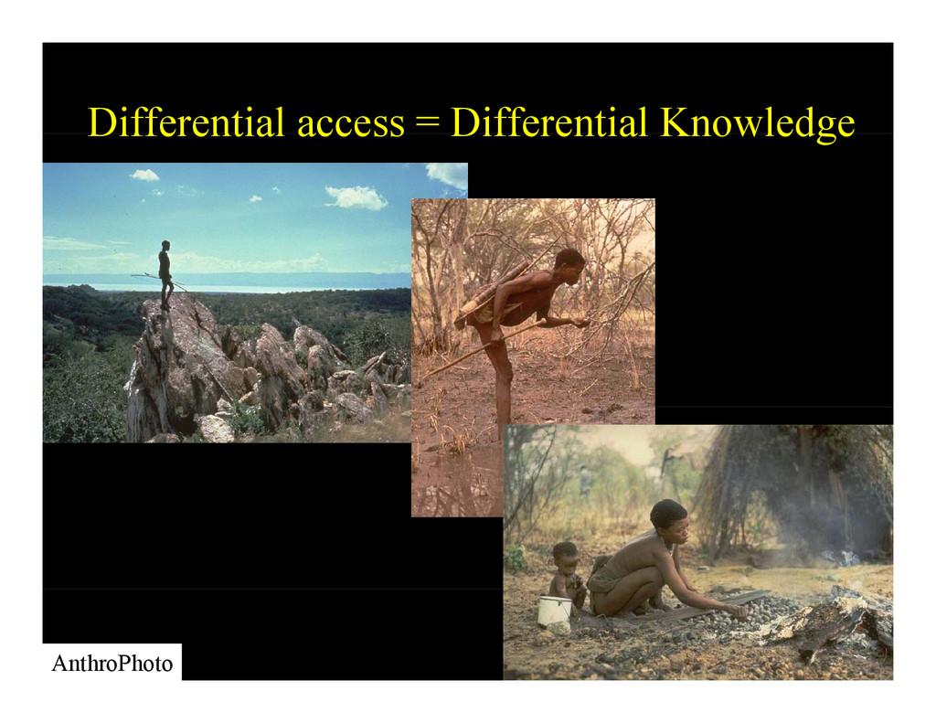 Differential access = Differential Knowledge Di...