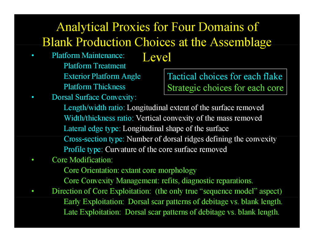 Analytical Proxies for Four Domains of Blank Pr...