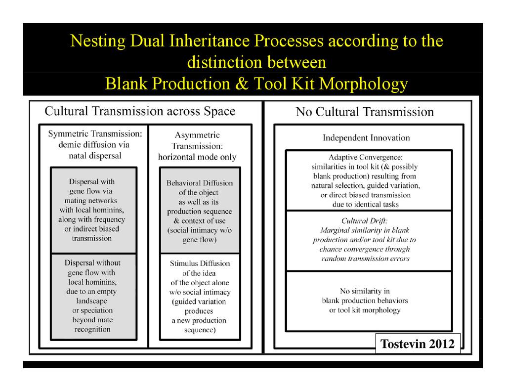 Nesting Dual Inheritance Processes according to...