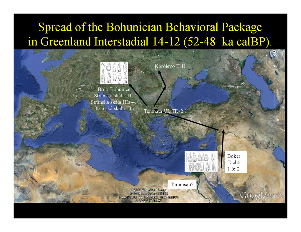 Spread of the Bohunician Behavioral Package in ...