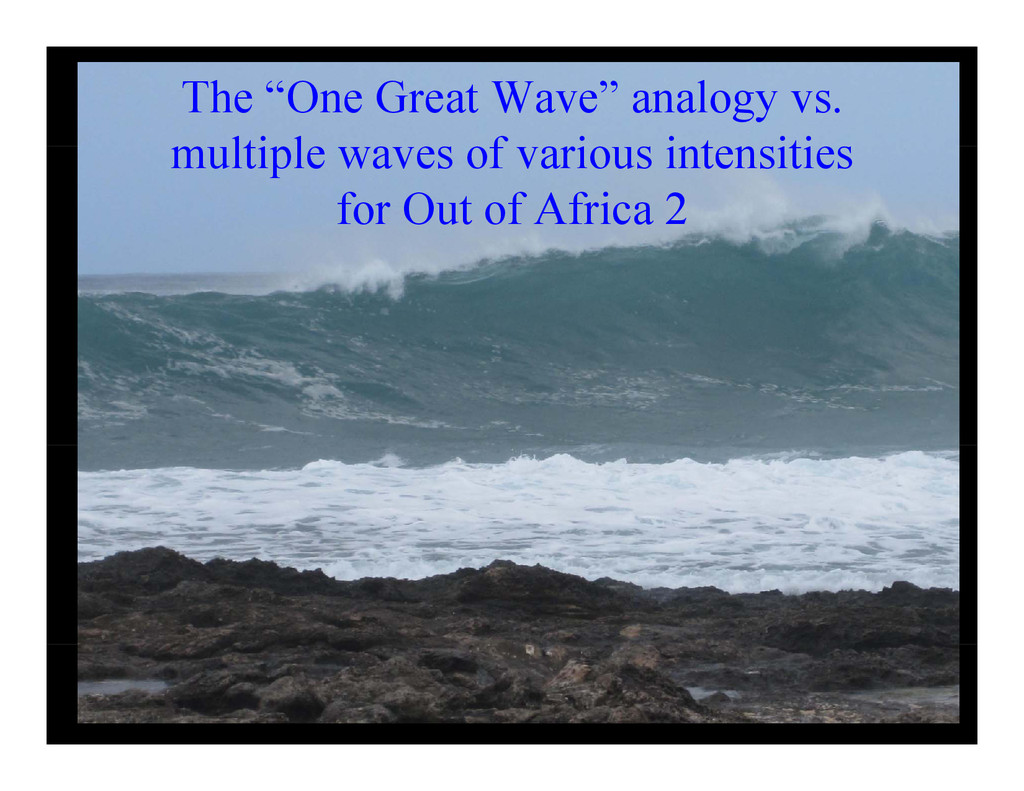 """The """"One Great Wave"""" analogy vs. lti l f i i t ..."""