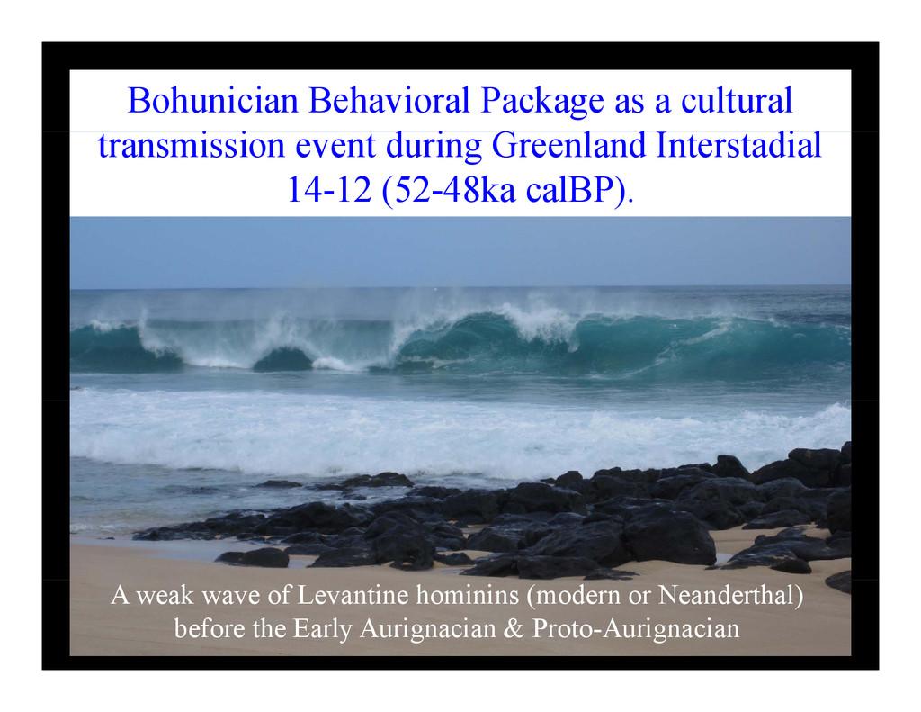 Bohunician Behavioral Package as a cultural i i...