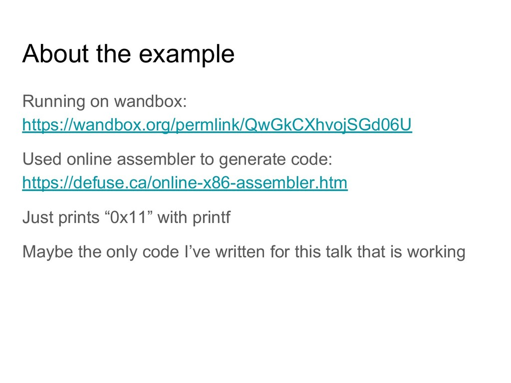 About the example Running on wandbox: https://w...