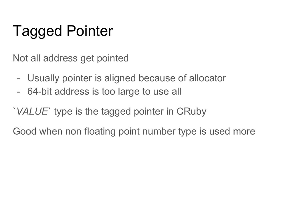 Tagged Pointer Not all address get pointed - Us...