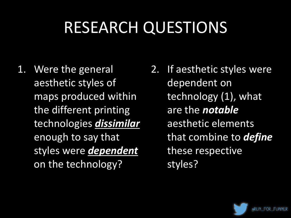 RESEARCH QUESTIONS 1. Were the general aestheti...