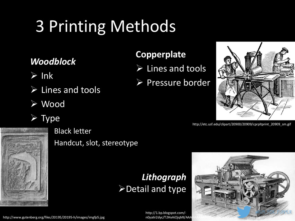 3 Printing Methods Woodblock  Ink  Lines and ...
