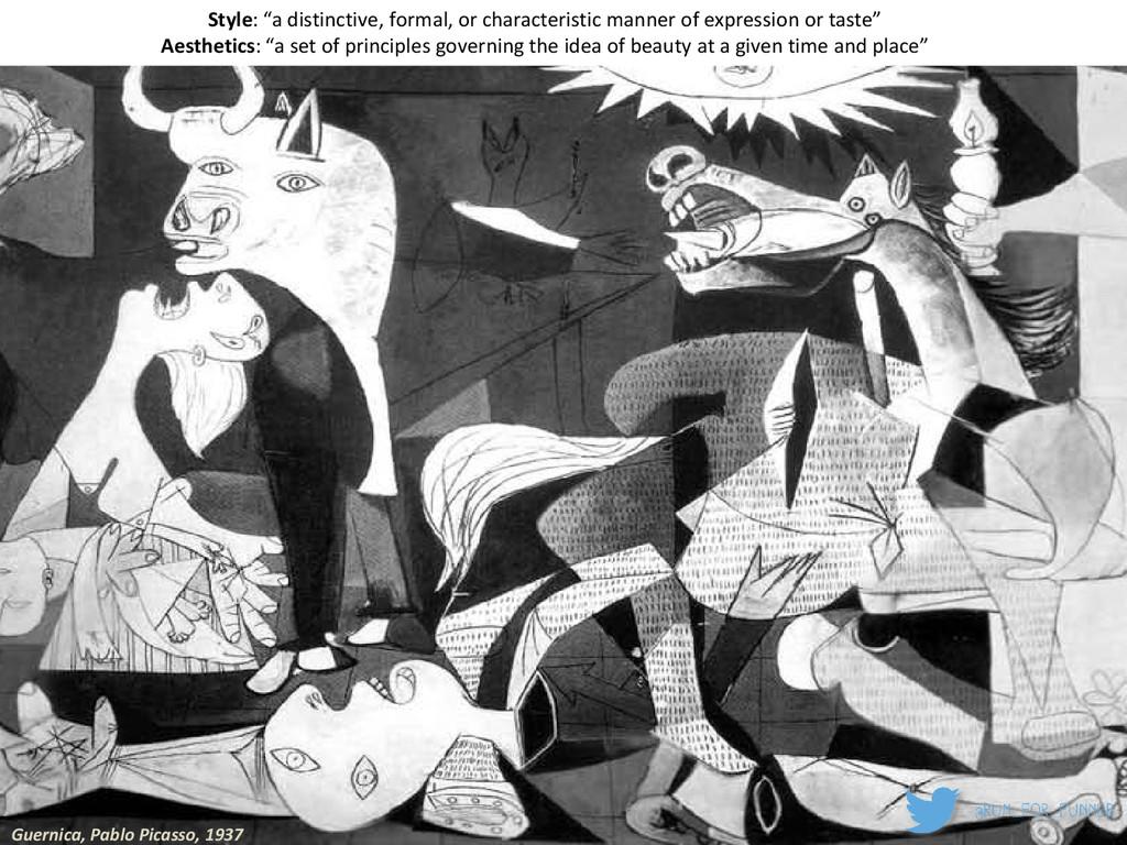 """Guernica, Pablo Picasso, 1937 Style: """"a distinc..."""