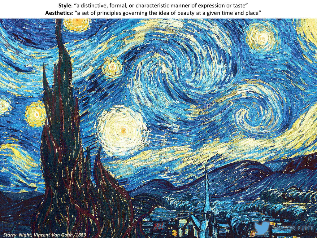 "Starry Night, Vincent Van Gogh, 1889 Style: ""a ..."