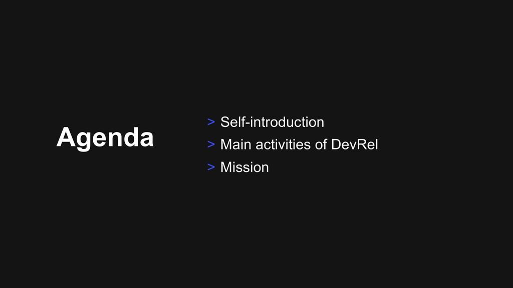Agenda > Self-introduction > Main activities of...