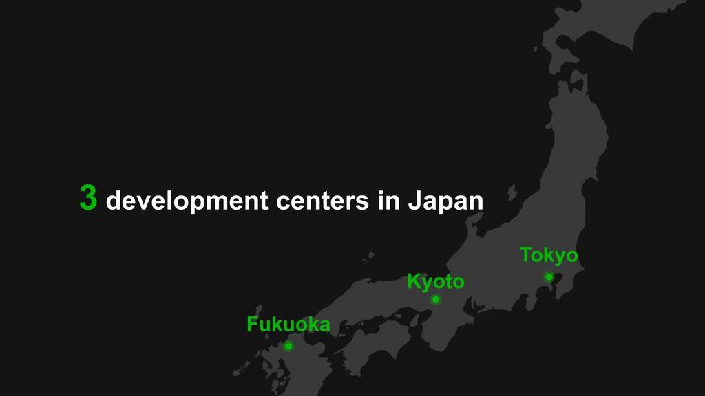 Tokyo Kyoto Fukuoka 3 development centers in Ja...