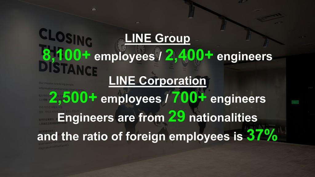 LINE Group 8,100+ employees / 2,400+ engineers ...