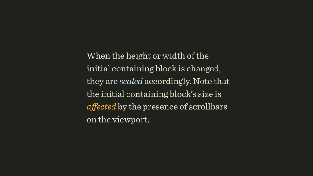 When the height or width of the initial contain...