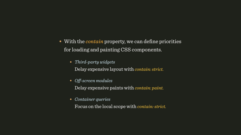 • With the contain property, we can define prior...