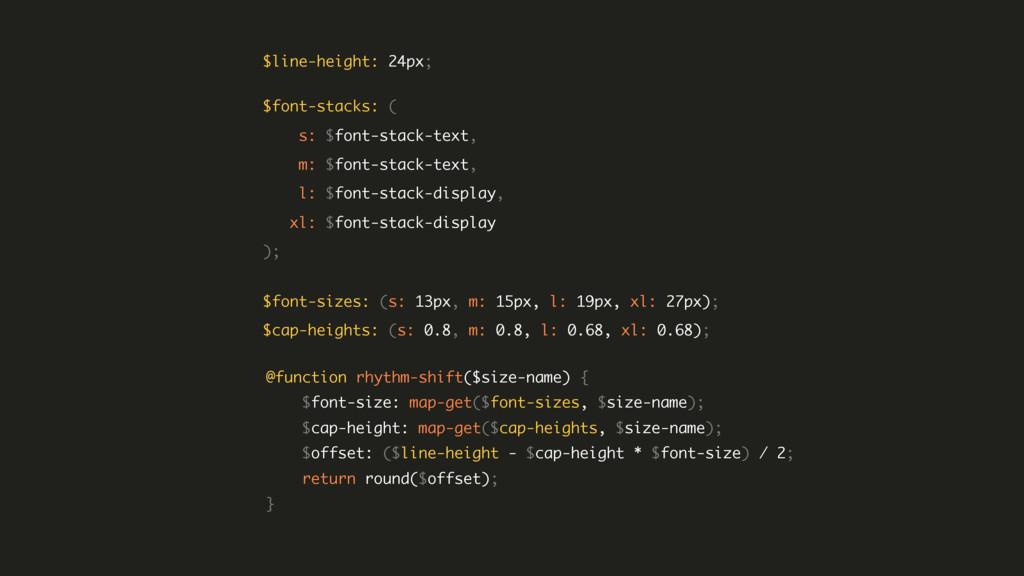 $font-stacks: ( s: $font-stack-text, m: $font...