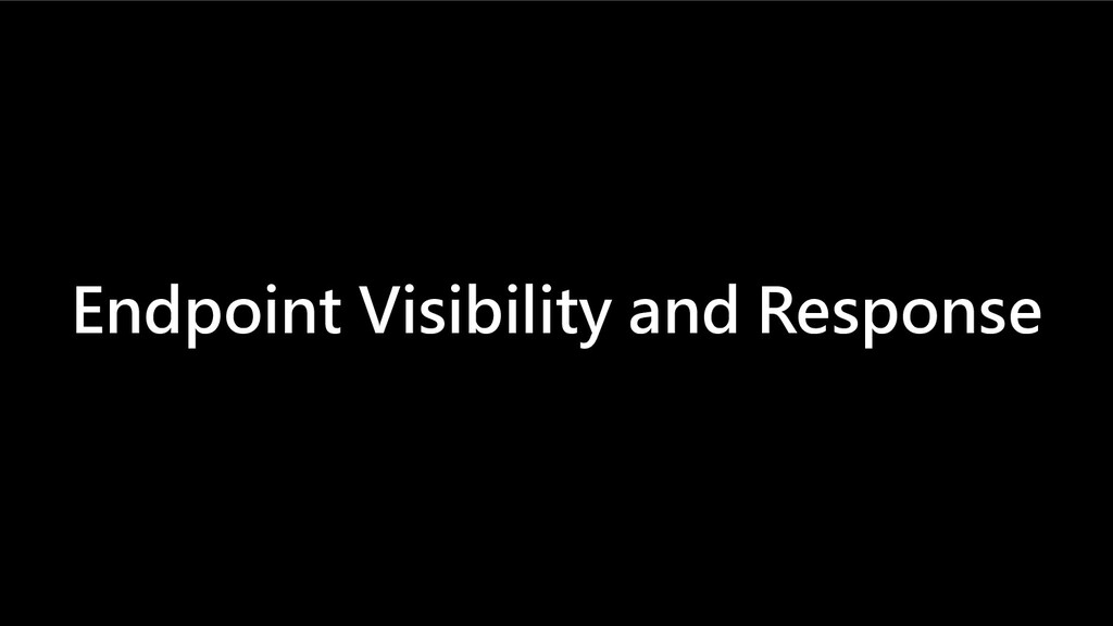 Endpoint Visibility and Response