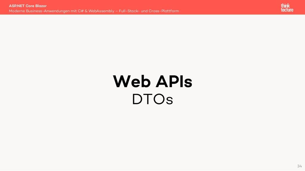 Web APIs DTOs Moderne Business-Anwendungen mit ...
