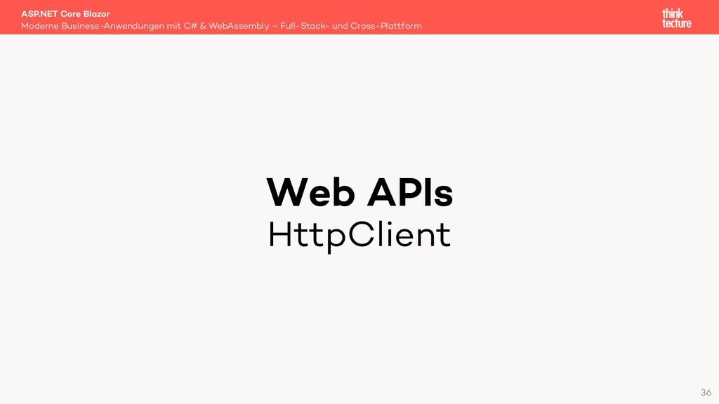 Web APIs HttpClient Moderne Business-Anwendunge...
