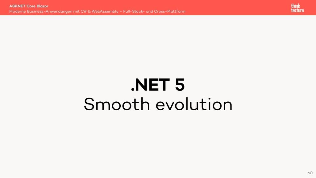 .NET 5 Smooth evolution Moderne Business-Anwend...