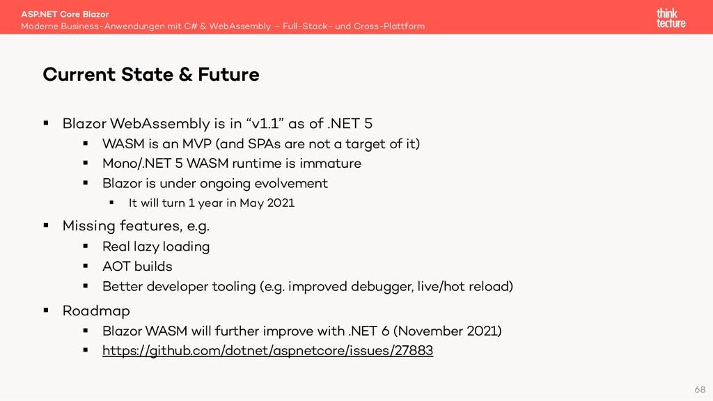 """68 § Blazor WebAssembly is in """"v1.1"""" as of .NET..."""