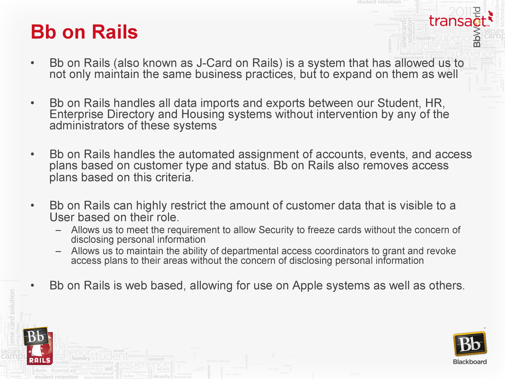 Bb on Rails • Bb on Rails (also known as J-Car...