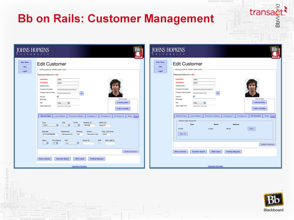 Bb on Rails: Customer Management