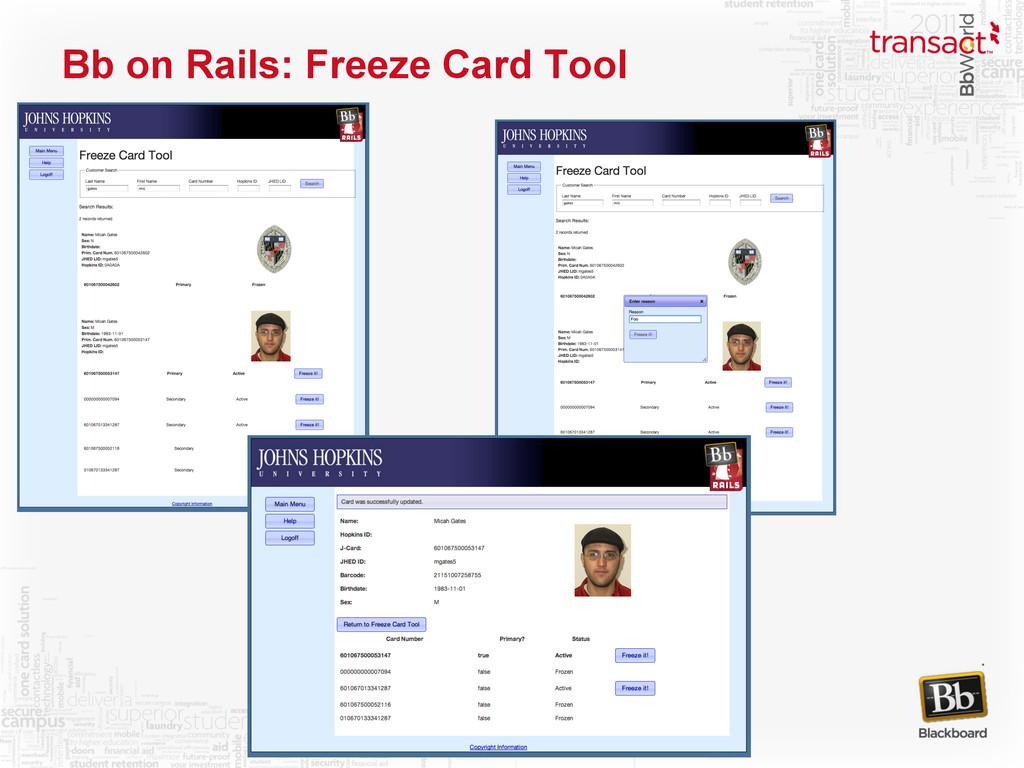 Bb on Rails: Freeze Card Tool