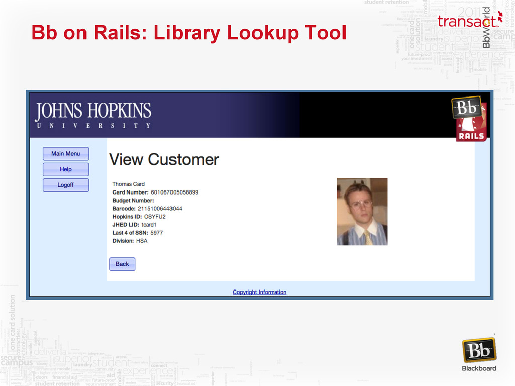 Bb on Rails: Library Lookup Tool