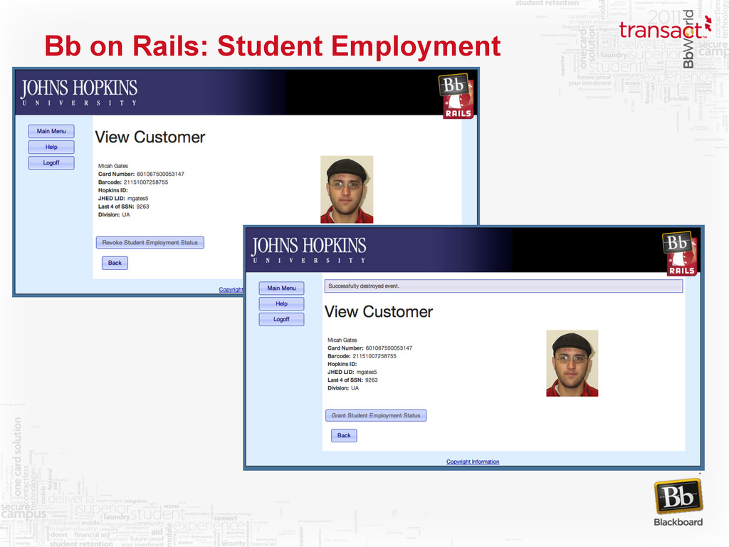 Bb on Rails: Student Employment