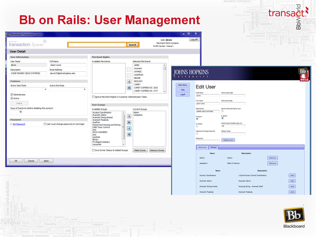 Bb on Rails: User Management