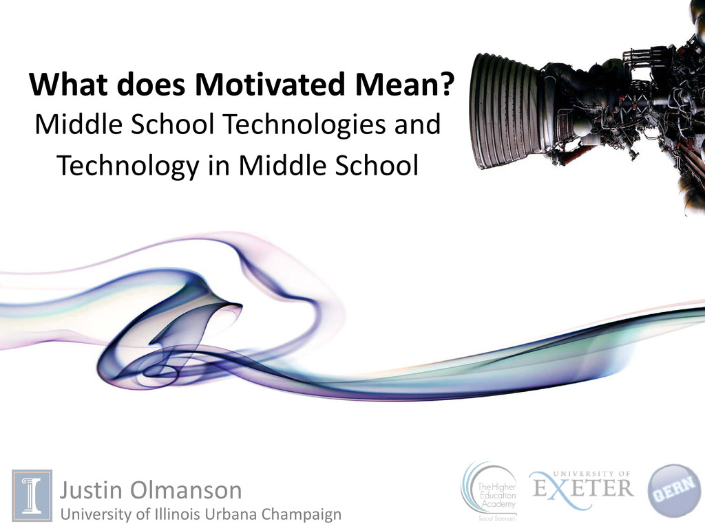 What does Motivated Mean? Middle School Technol...