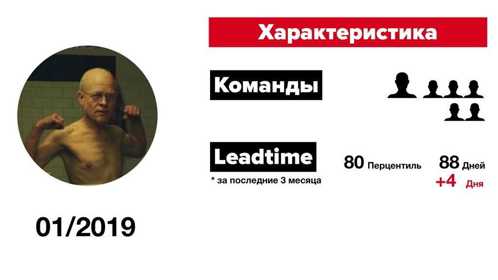 01/2019 Характеристика Команды Leadtime 80 Перц...