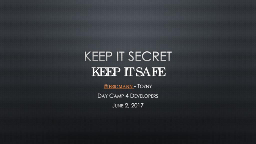 KEEP IT SAFE @ERICMANN