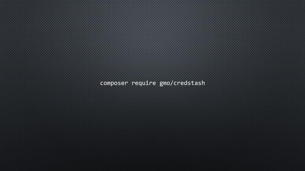 composer require gmo/credstash