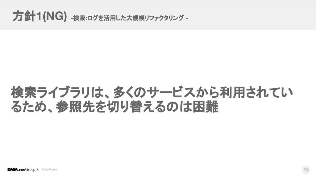 © DMM.com 検索ライブラリは、多くのサービスから利用されてい るため、参照先を切り替え...