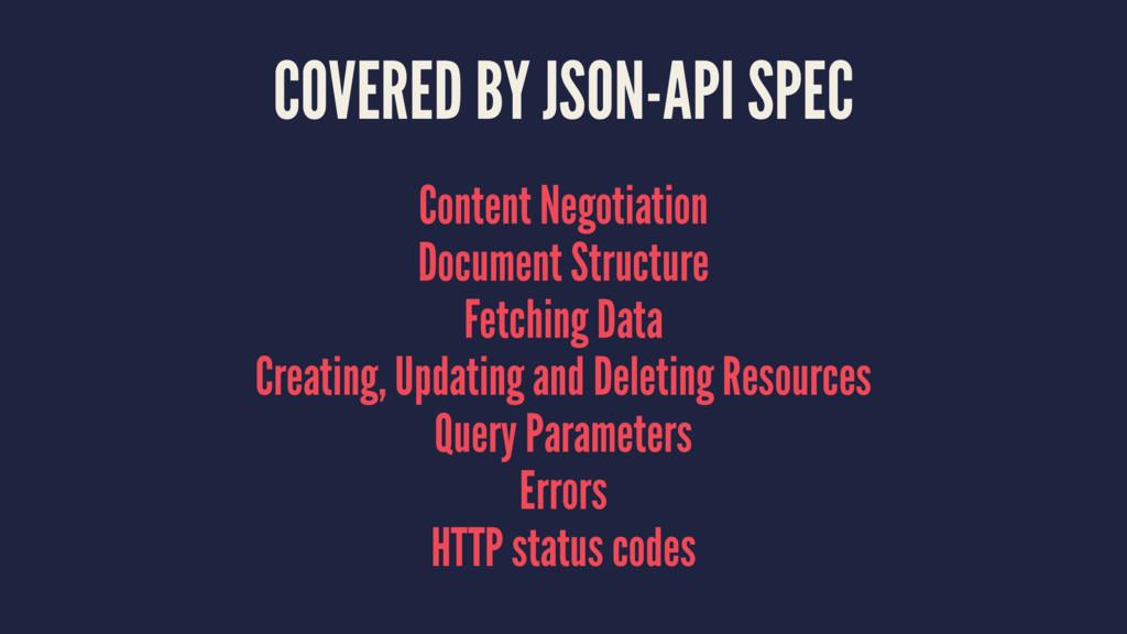 COVERED BY JSON-API SPEC Content Negotiation Do...