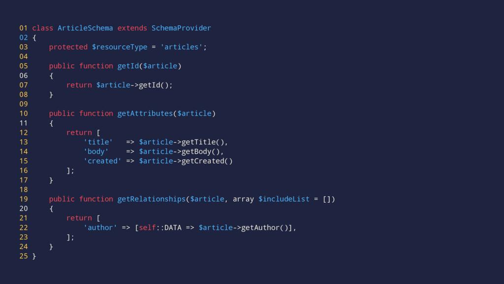 01 class ArticleSchema extends SchemaProvider 0...